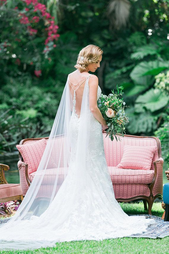 Champagne and Grit Bridal Cape