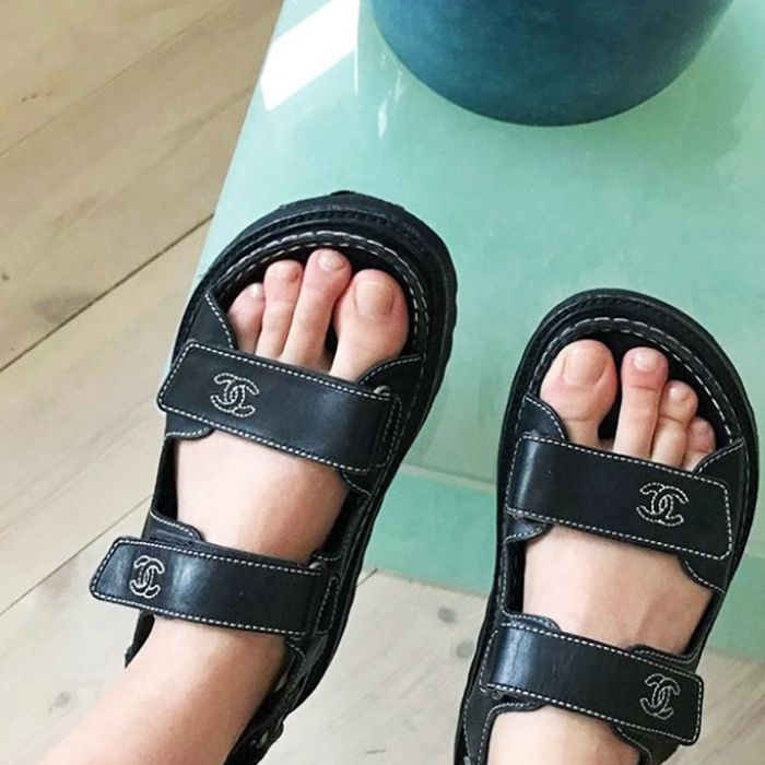 88f7d170c121 Chanel s Dad Sandals Are What All the Fashion Girls Love RN