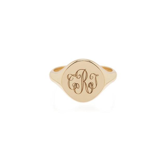 14K Monogram Signet Ring