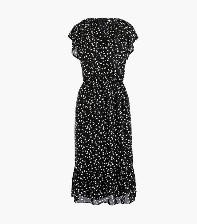 J.Crew Flutter-Sleeve Midi Dress in Daisy Floral