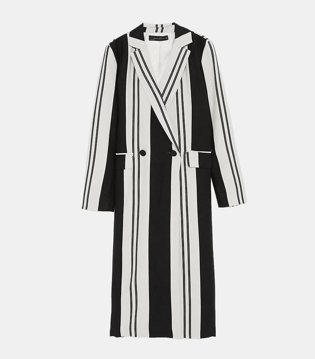 Zara Long Striped Coat