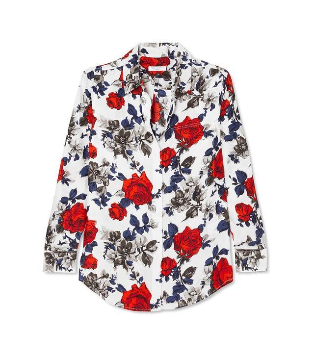 Signature Floral-Print Silk Crepe de Chine Shirt