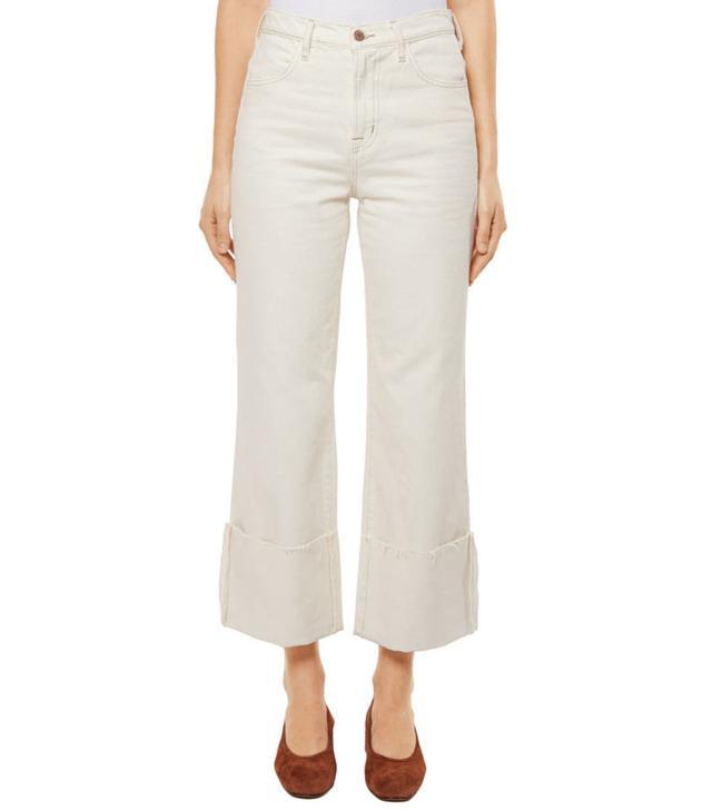 J Brand Joan High-Rise Wide-Leg Crop