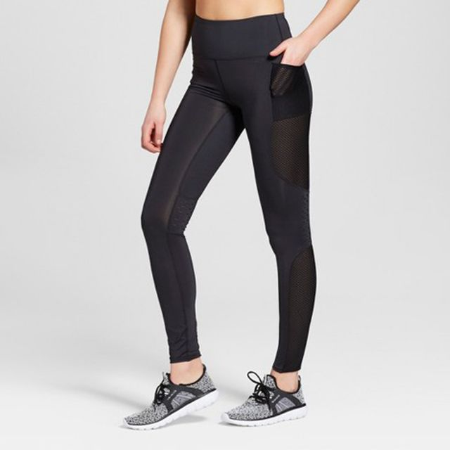 Performance High-Rise Laser Cut Mesh Leggings by JoyLab