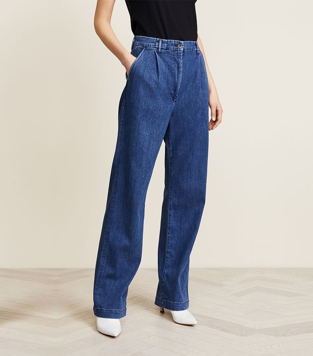 Pleated Oversized Trouser Jeans