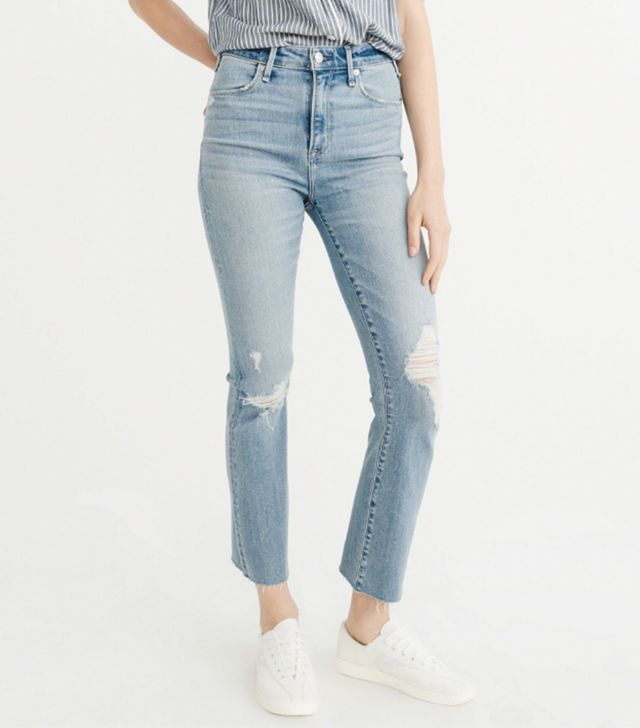 Abercrombie & Fitch High-Rise Ankle Flare Jeans
