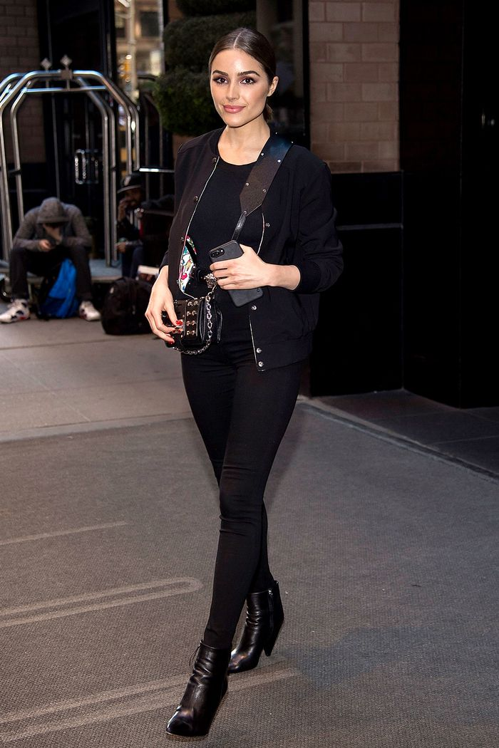 See How Celebrities Style Leggings And Boots Who What Wear
