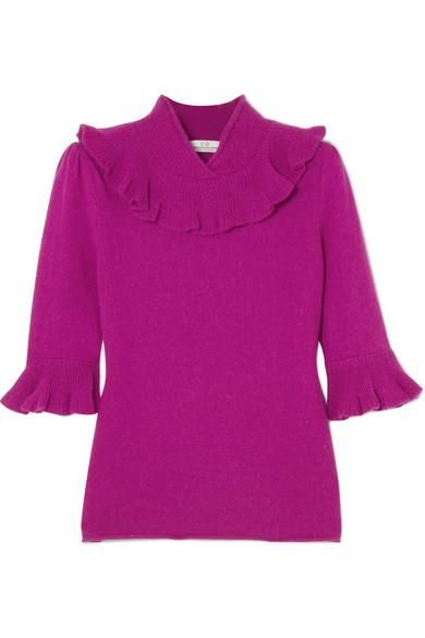 Ruffled Alpaca-blend Sweater