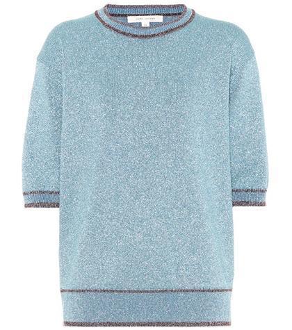 Glitter short-sleeved sweater