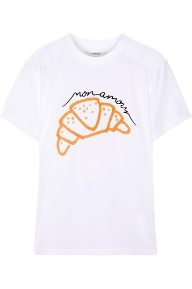 Moulin Embroidered Printed Cotton-jersey T-shirt