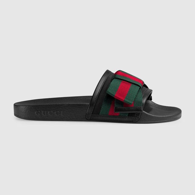 Satin Slide With Web Bow