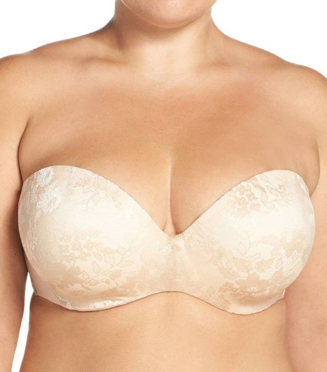 Plus Size Women's Curvy Couture Strapless Underwire Push-Up Bra