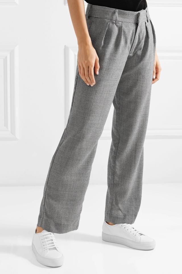 Maggie Marilyn Bobbi Houndstooth Wool-Blend Pants