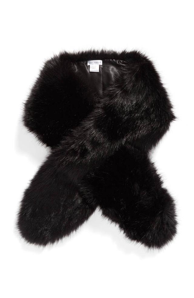 Oversize Faux Fur Wrap