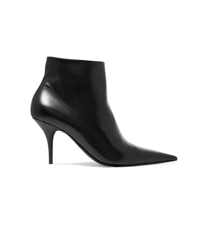 Knife Leather Ankle Boots