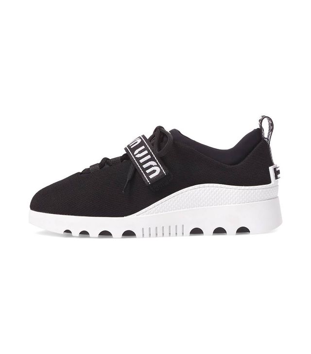 Miu Miu Logo Strap Platform Sneaker