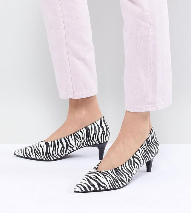 Kitten Heel Zebra Shoe