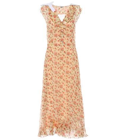 Printed cotton maxi dress