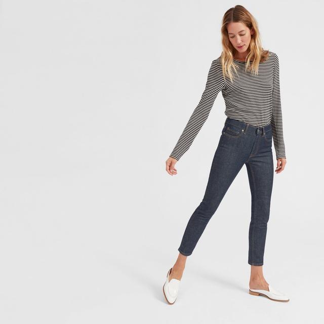 Mid-Rise Skinny Jean in Dark Indigo