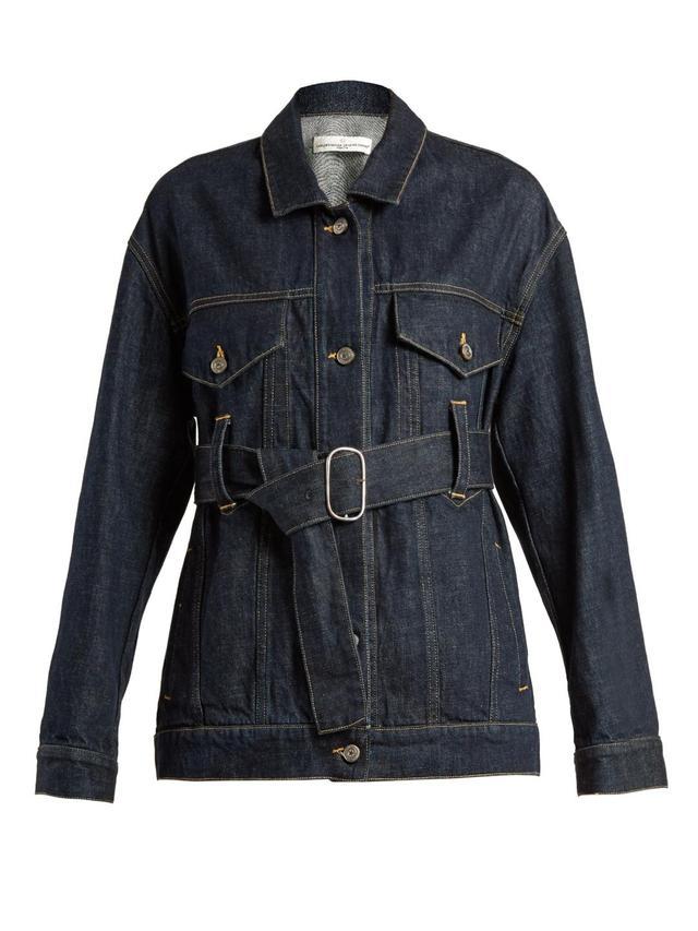 Viola Waist-Belt Denim Jacket