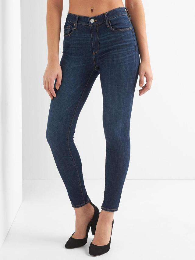 Women Mid Rise Sculpt True Skinny Jeans