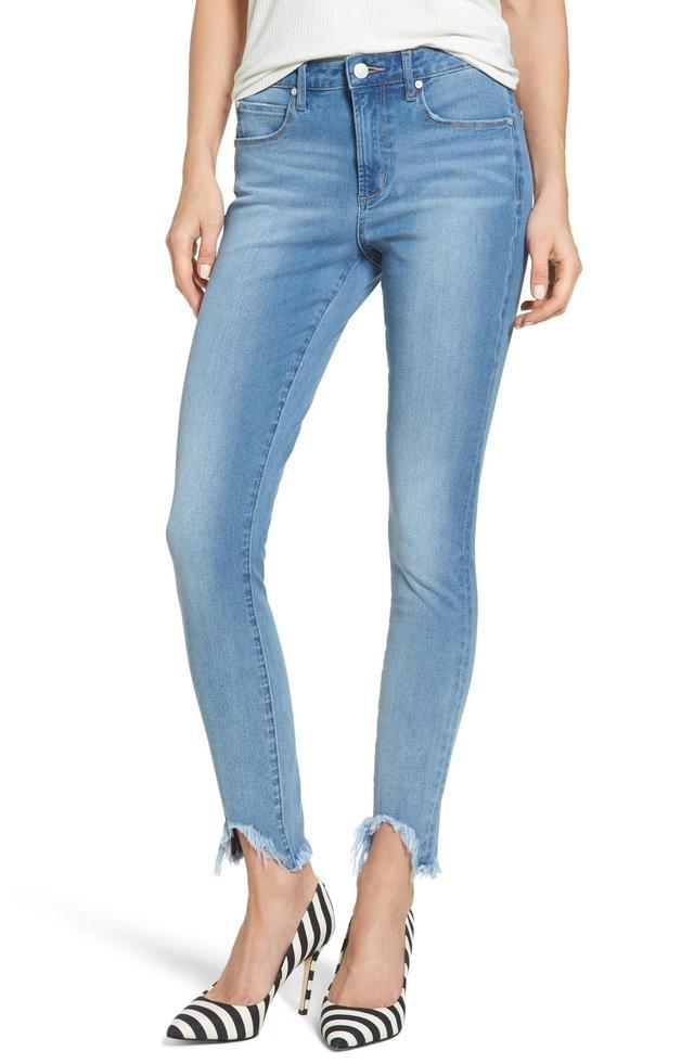 Fray Step Hem Skinny Jeans