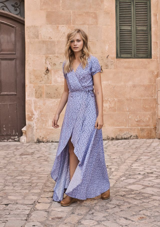Auguste The Lable Daphne Easy Days Wrap Dress in Lavender