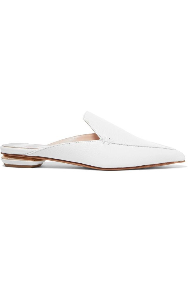 Nicholas Kirkwood Beya Textured-leather Slippers