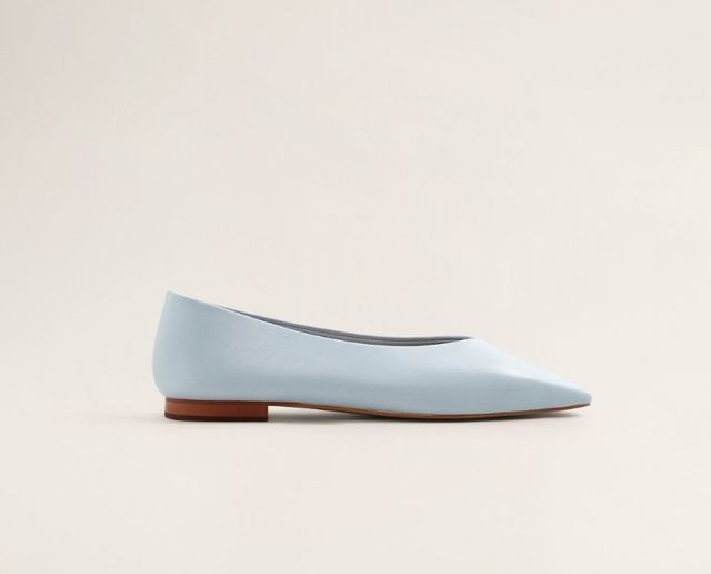 Mango Leather Flat Shoes