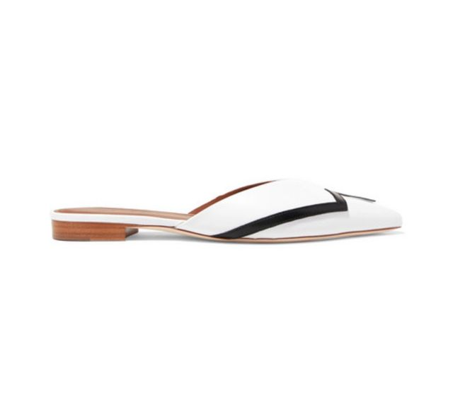 Malone Souliers by Roy Luwolt Emanuel Ungaro Amelie Leather Point-Toe Flats