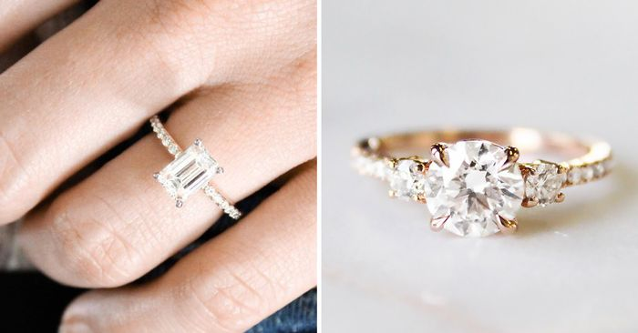 4db276aad The Biggest Engagement Ring Trends From the Past 10 Years   Who What Wear