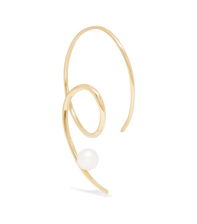 Sea Viper 14-Karat Gold Pearl Earring