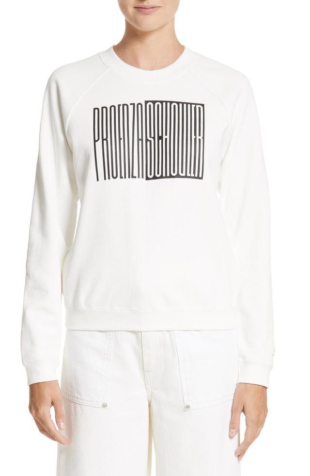 Pswl Graphic Jersey Shrunken Sweatshirt