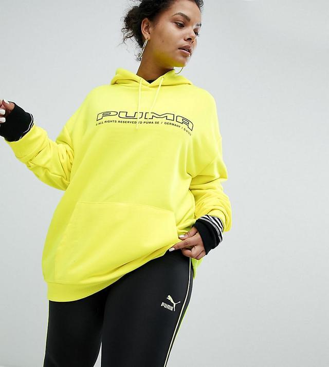 Exclusive To ASOS Plus Sweatshirt In Neon Yellow With Logo