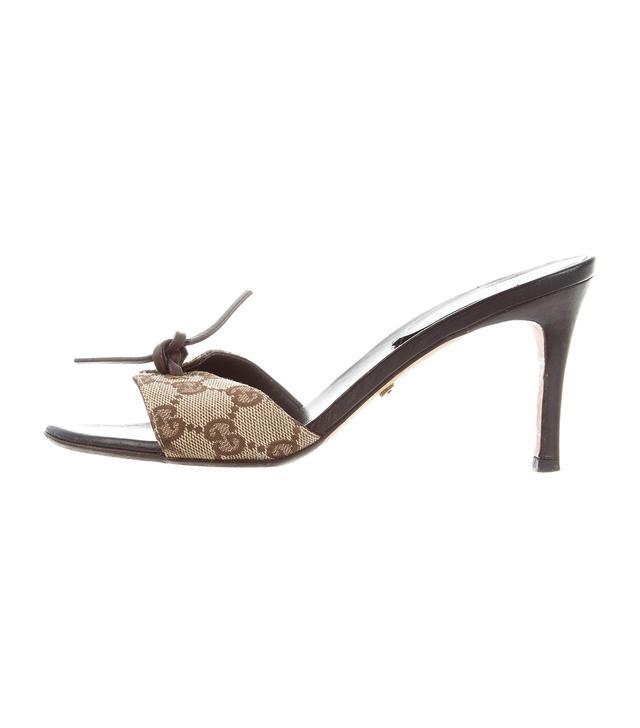 Vintage Gucci Monogram GG Slide Sandals