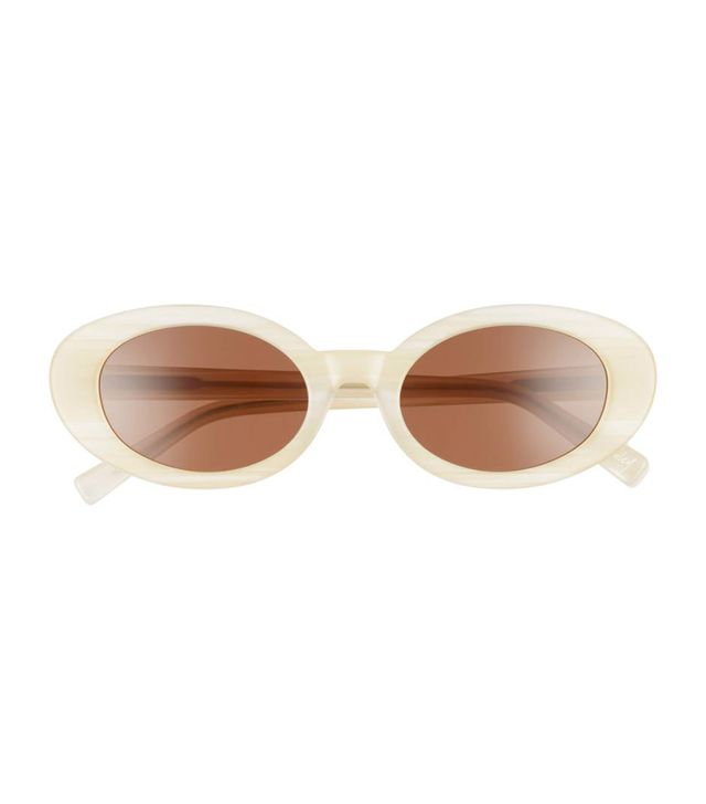 Women's Elizabeth And James Mckinely 51Mm Oval Sunglasses - White/ Rose
