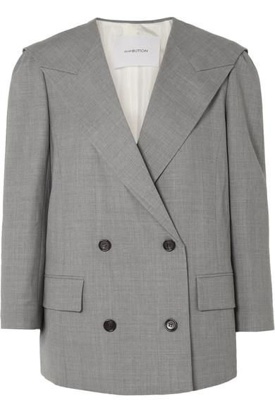 Oversized Double-breasted Wool Blazer