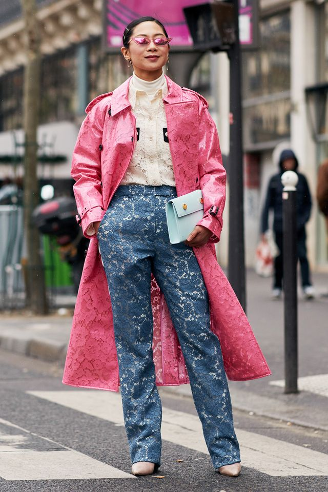 <p>The texture play in this look isA+.</p>