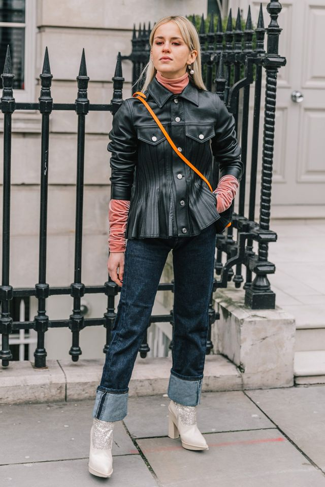 <p>Layered over a velvet turtleneck, the jacket takes on a whole new life.</p>