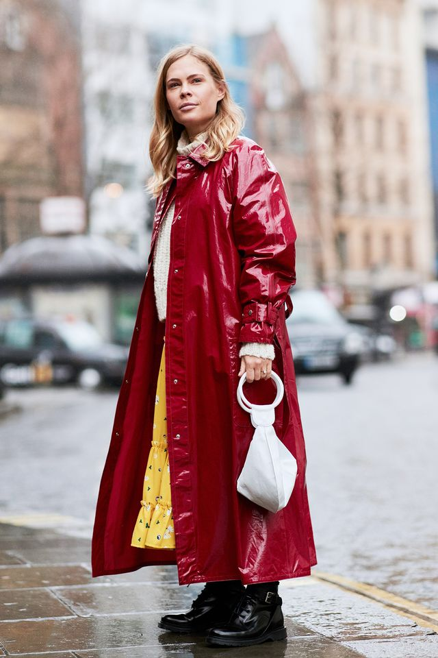 <p>The vinyl trench coat is one of the coolest pieces you can get your hands on right now.</p>