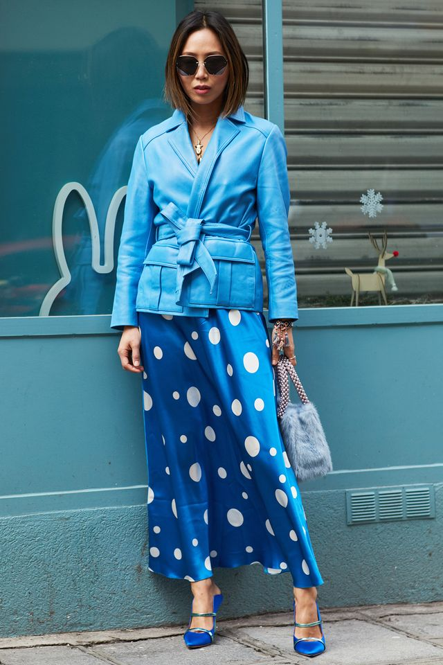 <p>Unexpected colours are the calling card of this season's crop of leather jackets.</p>
