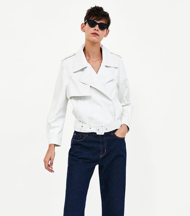 Zara Lightweight Faux Leather Jacket