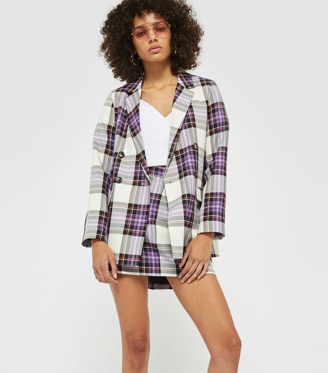 Double Breasted Tartan Jacket