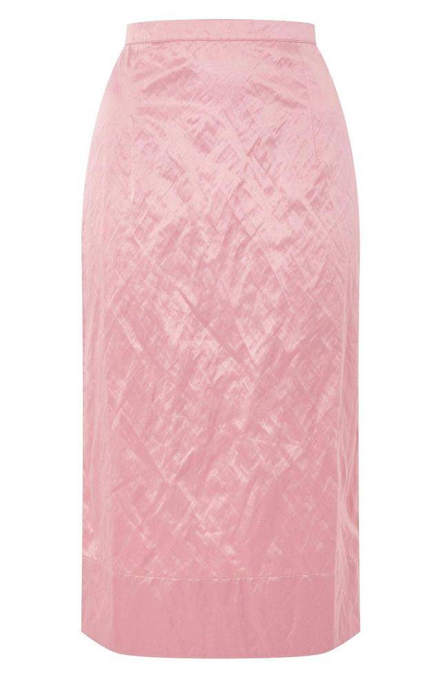 Topshop Boutique Rigid Crinkle Skirt