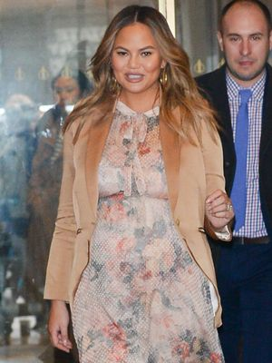 Chrissy Teigen Wore the Zimmermann Dress You Probably Have on Your Wishlist