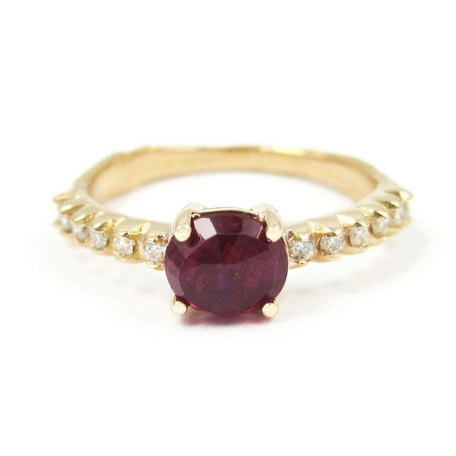 K. Brunini Jewels Small Twig Ruby and Diamond Ring