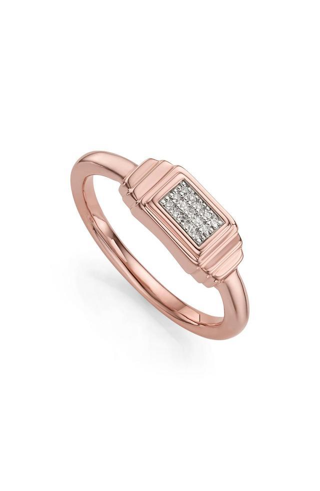 Women's Monica Vinader Baja Deco Diamond Ring
