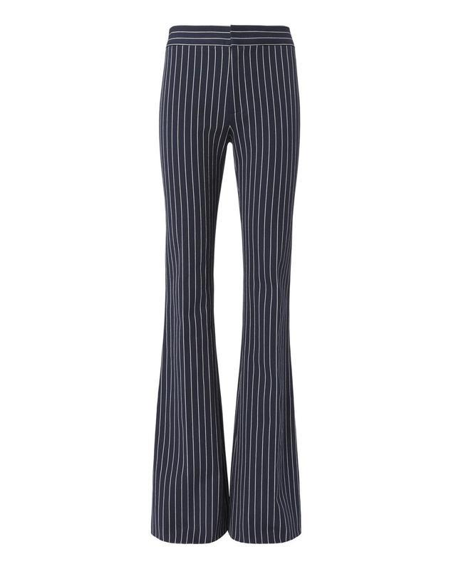 Derek Lam 10 Crosby Pinstripe Flare Leg Pants Navy 2