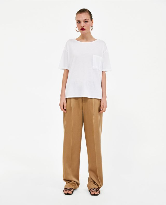 Zara Basic T-Shirt With Patch