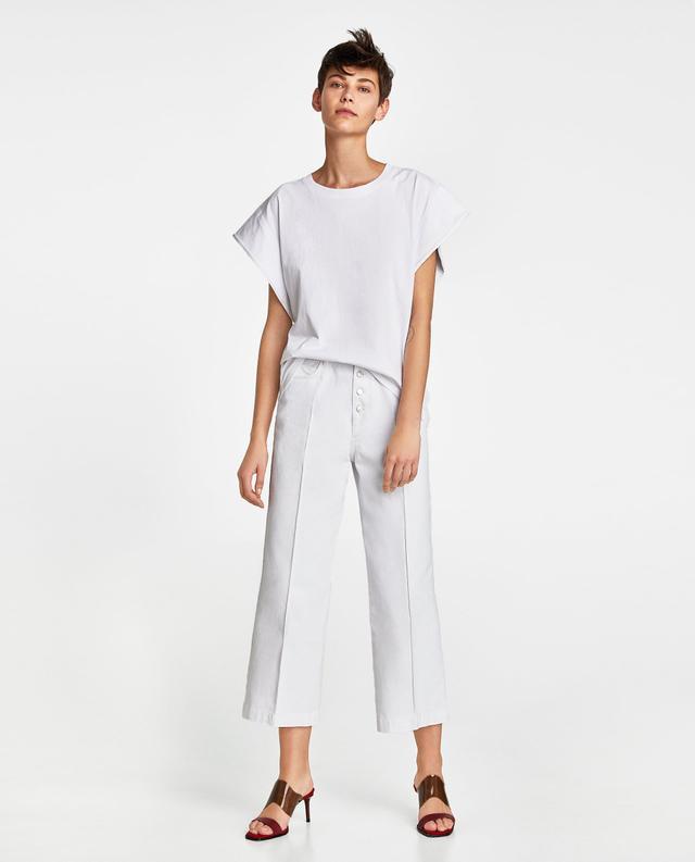 Zara Two-Tone Sleeve Top